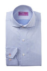 Lorenzo Uomo Dobby Dot Trim Fit Dress Shirt