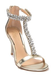 Jewel Badgley Mischka Janna Embellished T-Strap Sa