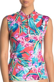 Tommy Bahama Orchid Groves Cap Sleeve Rash Guard