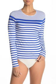 Tommy Bahama Beach Glass Stripe Rash Guard