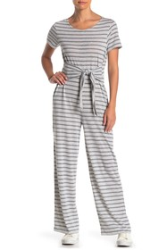 Alternative Tie Waist Striped Jumpsuit