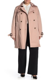 London Fog Trench with Detachable Liner (Plus Size