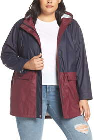 Levi's Levi's(R) Colorblock Rubberized Coat (Plus