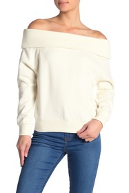 Kendall & Kylie Off-the-Shoulder Knit Sweater