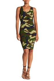 Kendall & Kylie Camo Printed Dress