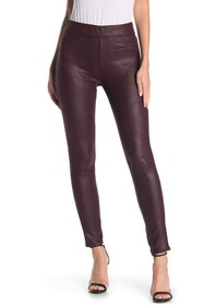 Jen7 Faux Leather Ponte Skinny Jeans