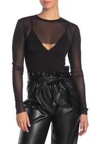 Kendall & Kylie Layered Me Mesh Bodysuit