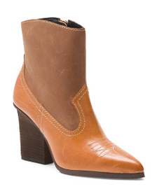 reveal designer Leather Western Boots