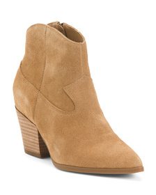 LUCKY BRAND Suede Western Ankle Booties