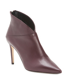 GRIGIARANCIO Made In Italy Pointy Toe Leather Boot