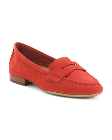 AEROSOLES Comfort Leather Penny Loafers