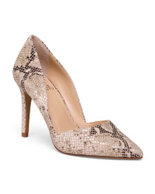 VINCE CAMUTO Snake Print Leather Pumps