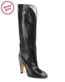 reveal designer Made In Italy Knee High Leather Sh