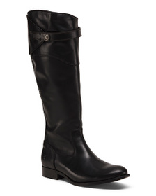 FRYE Wide Leather Knee High Riding Boots