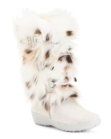 OSCAR Made In Italy Leather Trim Faux Fur Weather
