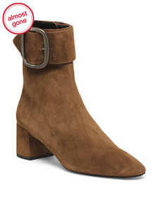 reveal designer Made In Italy Suede Boots With Ank
