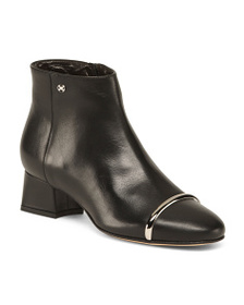 CAPEZZANI Made In Italy Mid Shaft Leather Booties