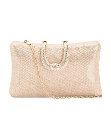 D'MARGEAUX Stone Clutch With Fancy Hardware