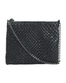 FALOR Made In Italy Leather Woven Crossbody