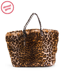 reveal designer Made In Italy Leopard Print Leathe