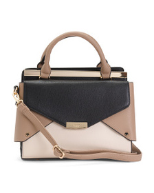 DUNE LONDON Made In Italy Color Block Satchel