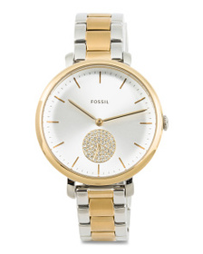 FOSSIL Women's Jacqueline Crystal Subeye Two Tone