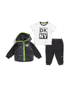 reveal designer Infant Boys 3pc Puffer Jacket And