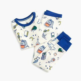 "J. Crew Kids' pajama set in ""back to school"" print"