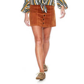 Juniors YMI Button Front Cord Skirt