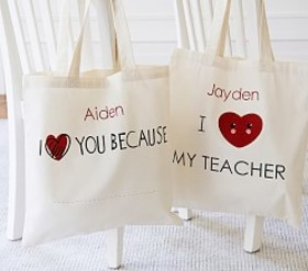 Pottery Barn Valentine's Day Totes