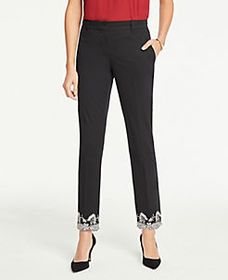 The Petite Ankle Pant In Embroidered Hem - Curvy F