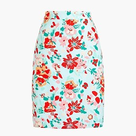J. Crew Factory Printed pencil skirt in basketweav