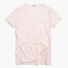J. Crew Factory Wrap-tie T-shirt