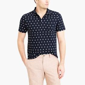 J. Crew Factory Short-sleeve printed polo shirt
