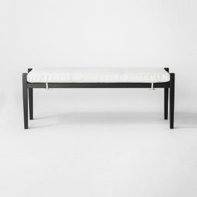 Fairmont Metal Patio Dining Bench - Linen - Thresh