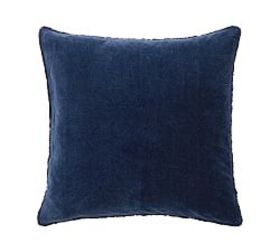 Pottery Barn Velvet Fringe Shams - Midnight