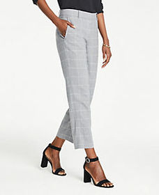 The Petite Ankle Pant In Windowpane - Curvy Fit