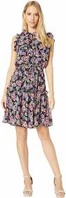 Nicole Miller Ruffle Floral Dress
