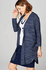 Pure Jill Light Shirttail Cardi