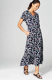 Ruffled Floral Maxi Dress