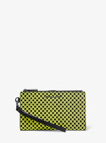 Michael Kors Adele Checkerboard Logo Leather Smart