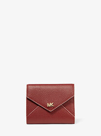 Michael Kors Medium Two-Tone Pebbled Leather Envel