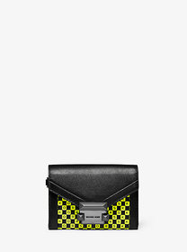 Michael Kors Whitney Small Checkerboard Logo Leath