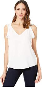 Vince Camuto Sleeveless Flutter Shoulder Soft Text