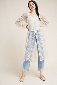 Anthropologie San-Michel Lace Duster