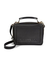 Marc Jacobs The Box 23 Leather Top Handle Bag BLAC