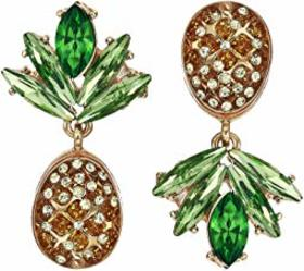 Betsey Johnson Pineapple Drop Earrings