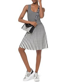MICHAEL Michael Kors - Pleated Geo-Pattern A-Line