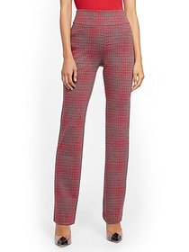 Whitney High-Waisted Pull-On Straight-Leg Pant - R
