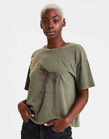 American Eagle AE Wolf Graphic T-Shirt